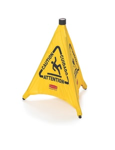 Rubbermaid Pop-Up Caution Sign Safety Cone in Yellow RFG9S0000YEL