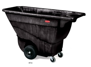 Rubbermaid 57-2/5 in. Structural Foam Tilt Truck in Black RFG9T1400BLA