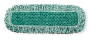 Rubbermaid HYGEN™ 28 in. Microfiber Dust Pad in Green RFGQ42600GR00