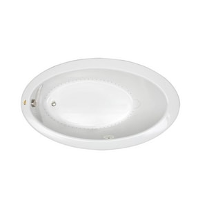 Jacuzzi Riva® 66-1/4 x 38 in. Acrylic Oval Drop-In or Undermount Air Bathtub with Left Drain and J2 Basic Control JRIV6638ALR2XX