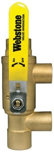 Webstone Company Pro-Pal Series® Loop Purge Tee™ Full Port Ball Valve with Loop Purge Tee W586