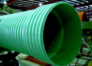 Diamond Plastics 14 ft. Sewer PVC Drainage Pipe DCORR21