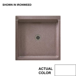Swan Corporation 36 x 36 in. Single Threshold Shower Base in White SSF03636MD010