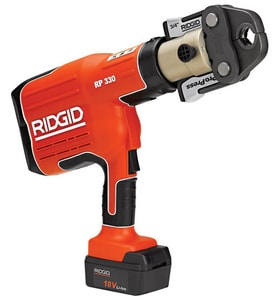 Ridgid 18 V Battery Opertaed Pressing Tool with Jaws R27923