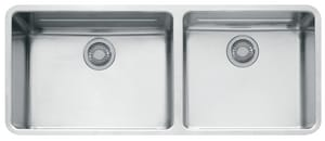 Franke Consumer Products Kubus 43 x 18-1/8 in. Double Bowl Under-Mount Kitchen Sink FKBX12043