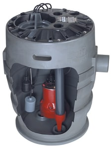 Liberty Pumps P370 Series 115 V 1/2 hp Simplex Sewage System with Alarm LP372LE51A2