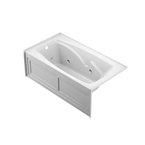 Jacuzzi Cetra® 60 x 32 in. 8-Jet Acrylic Rectangle Drop-In or Skirted Whirlpool Bathtub with Left Drain and J2 Basic Control JCT26032WLR2XX