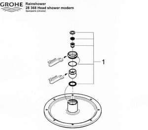 Grohe Rainshower Washer Kit G45933000