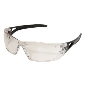 Edge Eyewear Delano Anti-Resistant Safety Glasses with Black Frame & Clear Lens WSD111AR