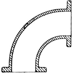 Flanged 125# Ductile Iron C110 Full Body Long Radius 90 Degree Bend FLR9