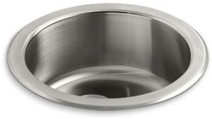 Kohler Undertone® 18-3/8 Diameter X 7-5/8 In. Top-Mount/Under-Mount Single Circular Bowl Kitchen Sink K3341-NA
