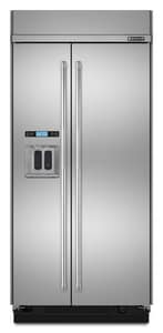 Jennair 42 in. Built-In Side-By-Side Refrigerator With Integrated Dispenser in Pro-Style® Stainless JJS42PPDUDB