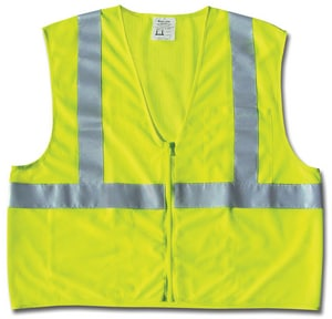 MCR Safety Mesh Safety Vest with 2-Silver Stripe RCL2MLP