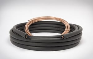 3/8 x 1-18 x 3/8 in. x 25 ft. Copper Plain End Line Set M61880250