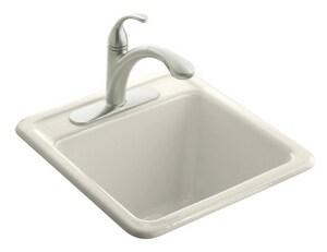 Kohler Park Falls™ 21 x 22 in. Drop-In Utility Sink in Biscuit K6655-3