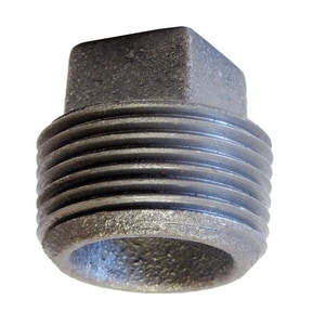 Black Cast Iron Cored Plug IBCCP