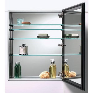 Jensen Cabinet with Beveled Edge Mirror in Brushed Stainless Steel R72SS304D