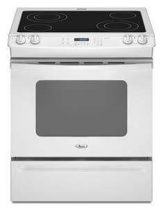 Whirlpool 4.5 CF 30 in. Self-Cleaning Slide-In Electric Range WGY397LXU