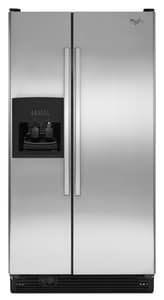 Whirlpool 68-7/8 x 35-1/2 in. 25.1 cf Side-By-Side Refrigerator with Disposer WED5FHEXV