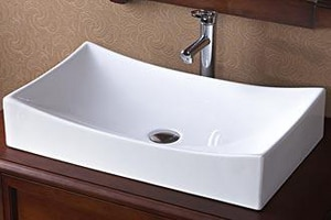 Ronbow 25-9/16 x 15-3/8 in. Rectangle Ceramic Vessel Lavatory Sink White R200032WH