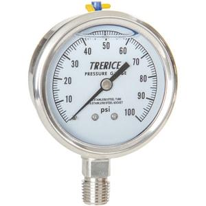 H.O. Trerice 2-1/2 x 1/4 in. Vacuum Stainless Steel Pressure Gauge TD83LFSS2502LA010