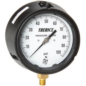 H.O. Trerice 4-1/2 x 1/4 in. Glycerine Filled Pressure Gauge T450LFB4502LA