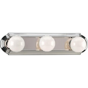 Progress Lighting Broadway Lights 60 W 3-Bulb Strip Light PP303815