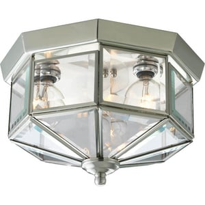 Progress Lighting 25W 3-Light Octagonal Close-to-Ceiling Fixture PP5788