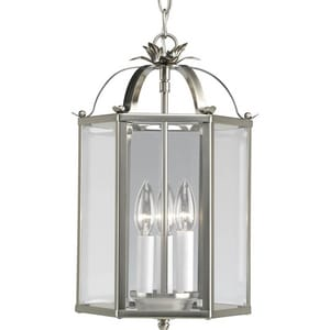 Progress Lighting Flat Glass 60W 3-Light Foyer Pendant PP3645