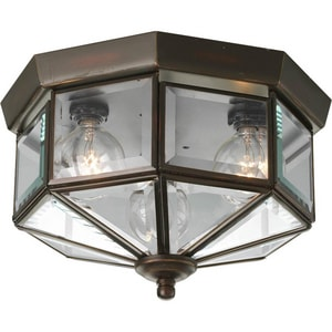 Progress Lighting 25W 3-Light Octagonal Close-to-Ceiling Fixture PP5788
