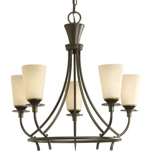 Progress Lighting Cantata 60W 5-Light Candelabra E-12 Base Incandescent Chandelier PP4006