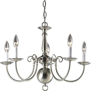 Progress Lighting Americana 24 in. 60W 5-Light Candelabra Incandescent Chandelier PP4346