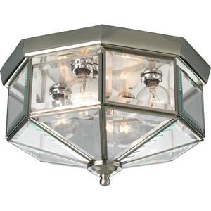 Progress Lighting Beveled Glass 25W 4-Light Flush Mount Ceiling ...