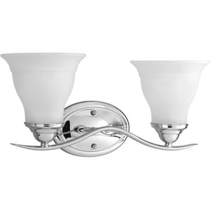 Progress Lighting Trinity 17-1/4 in. 100W 2-Light Bath Light PP3191