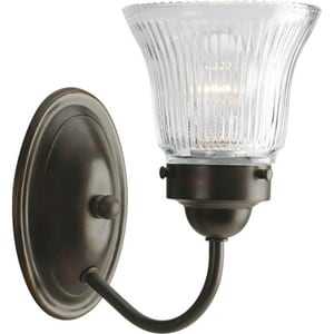 Progress Lighting 5-1/4 in. 1-Light Vanity Fixture with Sparkling prismatic Glass Shade PP3287