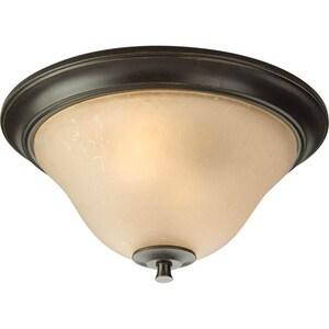 Progress Lighting Cantata 75W 2-Light Medium E-26 Base Incandescent Flushmount Ceiling Fixture PP3853