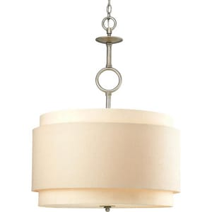 Progress Lighting Ashbury 3 Light Pendant Silver Ridge PP5056134