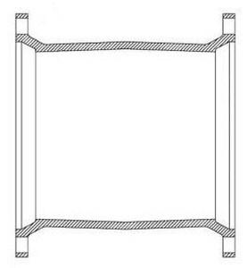 Tyler Union Mechanical Joint Epoxy Ductile Iron C153 Long Sleeve DMJELSSLA