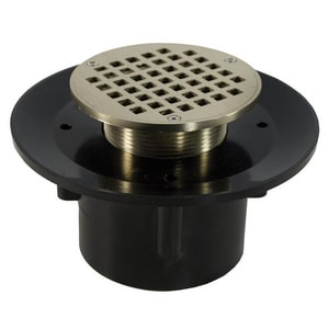 Jones Stephens 2 x 3 in. ABS Flare Drain with 5 in. Round Strainer JD49322