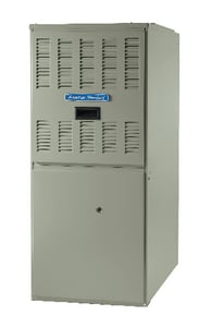 American Standard HVAC AUC1 Series 17-1/2 in. 80000 BTU 90% AFUE 3.5 Ton Single-Stage Upflow and Horizontal Left 1/3 hp Natural or LP Gas Furnace AAUC1B080A9421A