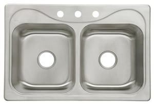 Sterling Plumbing Group Southhaven® 33 x 22 x 8-1/2 in. Double Basin Sink S11850NA