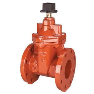 Nibco Ductile Iron Flanged Non-Rising Valve Stem Bolted Bonnet Resilient Wedge Square Operating Nut Gate Valve NF619RWSON