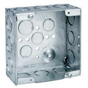Cooper Crouse-Hinds 22 cu in. 2-1/8 in. Deep Square Outlet Box Drawn with Knockout CTP434