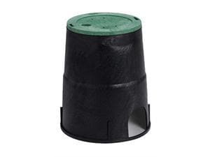 Orbit Irrigation Products Round Valve Box in Black|Green O53811