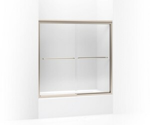 Kohler Fluence® 58-5/16 x 56-5/8-59-5/8 in. Sliding Bath Door with 1/4 in. Thick Crystal Clear Glass K702200-L