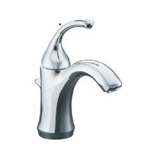 Kohler Forte® Single-Handle Lavatory Faucet with Lever Handle Plastic Pop-Up Drain K10216-4
