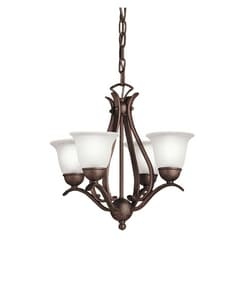 Kichler Lighting Dover 60W 4-Light Candelabra Chandelier KK2019