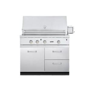 Viking Range Outdoor Grill Base Cabinet in Stainless Steel VVQBO4121SS