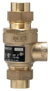 Watts Series 9D Brass Solder Union x Union 175 psi Backflow Preventer W9DM