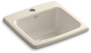 Kohler Gimlet™ 1-Hole 1-Bowl Topmount Bar Sink K6015-1